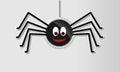 Glossy halloween spider Royalty Free Stock Photo