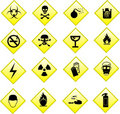 Glossy Hazard Icons Stock Photos