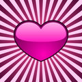 Glossy heart background Royalty Free Stock Image