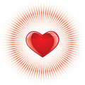 Glossy heart background Stock Photos