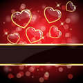 Glossy heart card Stock Photo