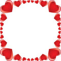 Glossy heart frame Royalty Free Stock Image