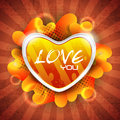 Glossy heart shape on grungy rays background Royalty Free Stock Photography