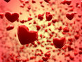 Glossy hearts Abstract Background (Depth of Field) Royalty Free Stock Images