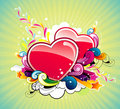 Glossy hearts vector Stock Photos