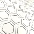 Glossy hexagon segments as abstract background copyspace made of white plastic Royalty Free Stock Photography