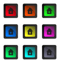 Glossy home buttons for your webpage or any other purpose you like Stock Photography