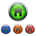 Glossy Home Sign Icon (vector) Royalty Free Stock Image