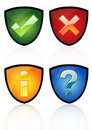 Glossy icon set Royalty Free Stock Photography