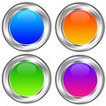 Glossy icons Royalty Free Stock Photo