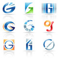 Glossy icons for letter g vector illustration of abstract based on the Royalty Free Stock Photography