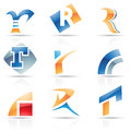 Glossy icons for letter r vector illustration of abstract based on the Royalty Free Stock Images