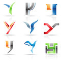 Glossy icons for letter y vector illustration of abstract based on the Stock Image