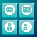 Glossy icons for social networks and mailboxes site Royalty Free Stock Images