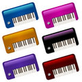 Glossy Little Vintage Keyboards Icons Royalty Free Stock Photography