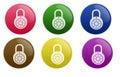 Glossy Lock Button Royalty Free Stock Photos