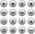 Glossy media buttons Stock Photos