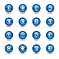 Glossy media player icons Royalty Free Stock Photography