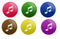 Glossy Music Button Royalty Free Stock Photo