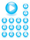 Glossy music button set Royalty Free Stock Photo