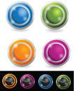 Glossy orb button Stock Photos