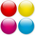 Glossy orb buttons Royalty Free Stock Photos