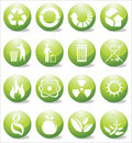 Glossy recycle icons Royalty Free Stock Photo