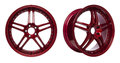 Glossy Red Alloy Wheels Royalty Free Stock Images