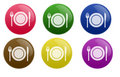 Glossy Restaurant Button Royalty Free Stock Photo