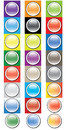 Glossy round buttons icon set Royalty Free Stock Photo