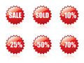 Glossy sale sticker set. Stock Photography
