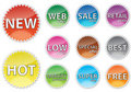 Glossy sale tags Royalty Free Stock Images