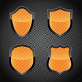 Glossy shield emblems Royalty Free Stock Images