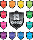 Glossy shield emblems Royalty Free Stock Image