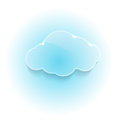 Glossy shiny dream cloud clip art Royalty Free Stock Image