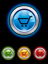 Glossy shopping button Royalty Free Stock Photo