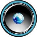 Glossy speaker Stock Image