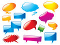 Glossy speech bubbles Stock Image