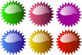 Glossy star shaped badge Royalty Free Stock Photography