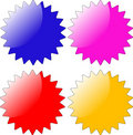 Glossy star shaped badge Stock Images