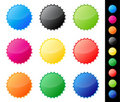 Glossy star stickers Stock Image