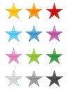 Glossy Stars EPS Royalty Free Stock Photo