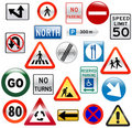 Glossy Street Signs Royalty Free Stock Photos