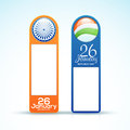 Glossy tags for Indian Republic Day. Royalty Free Stock Photo
