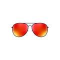 Glossy vector aviator sunglasses design Royalty Free Stock Photo