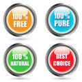 Glossy Vector Button Set -EPS Vector- Royalty Free Stock Photo