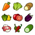 Glossy vegetable set Royalty Free Stock Photo
