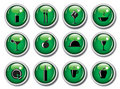 Glossy web buttons - food icons Royalty Free Stock Image