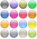Glossy web buttons icons Stock Photography