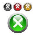 Glossy X button Royalty Free Stock Photo
